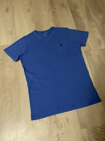Оригинал Ralph Lauren мужская футболка синяя М L как новая брендовая
