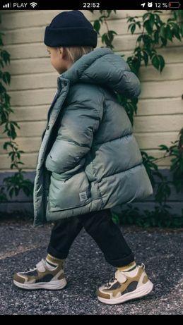 Zara!Новая коллекция !Теплая куртка парка пальто 74-110см Флис подклад