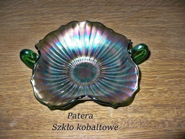 Patera dla kolekcjonera szkło kobaltowe ! Piękna