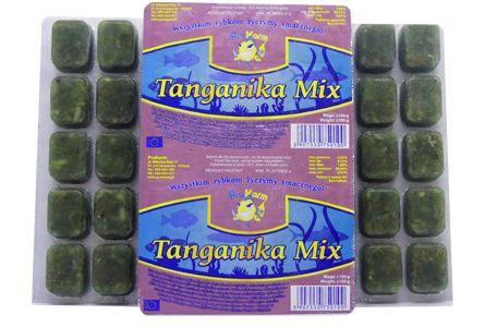 Tanganika Mix (artemia, dafnia, serce) - pokarm dla ryb blister 100g
