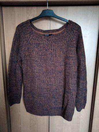 Sweter damski sweterek rudy ciepły zimowy XL 42 XXL 44 retro