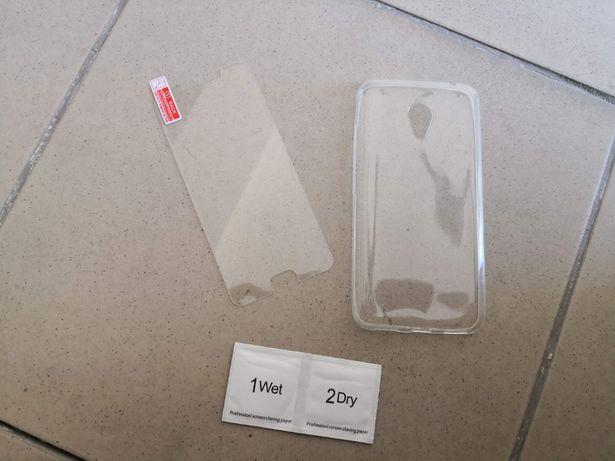 Силіконовий чохол і захисне скло на Meizu M3 mini