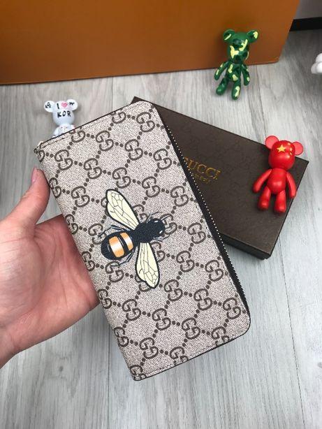 Кошелек бумажник купюрник портмоне органайзер клатч Гуччи Gucci k046