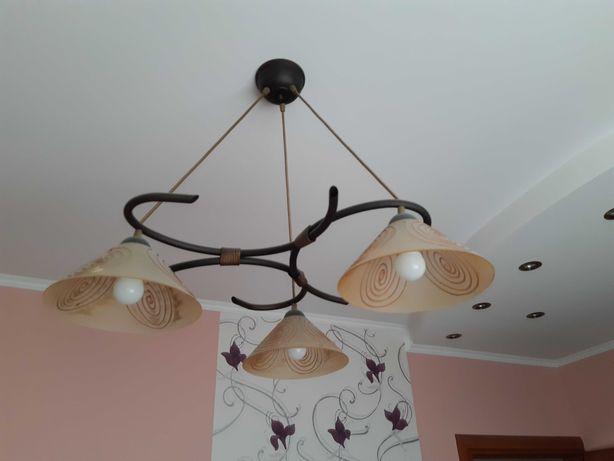 Lampa wisząca szklane klosze