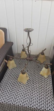 Lampy,5 ramienna i do pokoju i przedpokoju