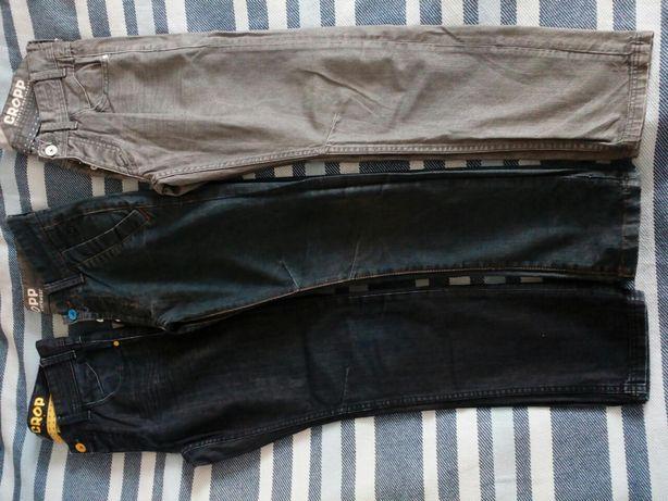 Spodnie jeansy CROP, młodzieżowe, męskie, size 30