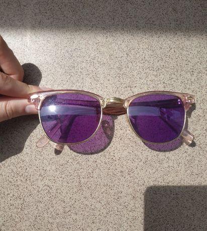ZARA okulary przeciwsłoneczne fioletowe różowe