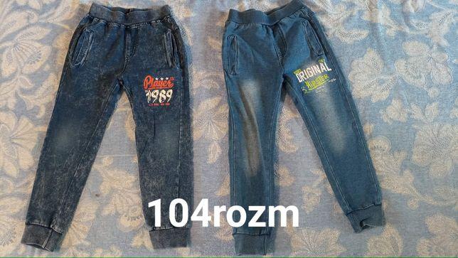 Spodnie różne od 104 do 122 rozmiar