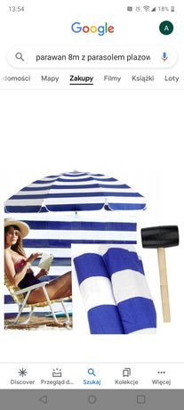 Sprzedam parasol plażowy wraz z parawanem