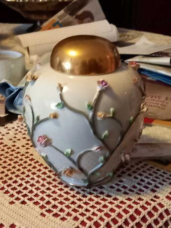 Pote porcelana Artibus motivos florais 16cm