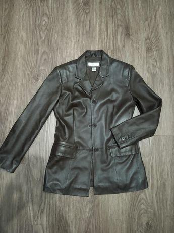 Кожаная куртка пиджак Preston&York