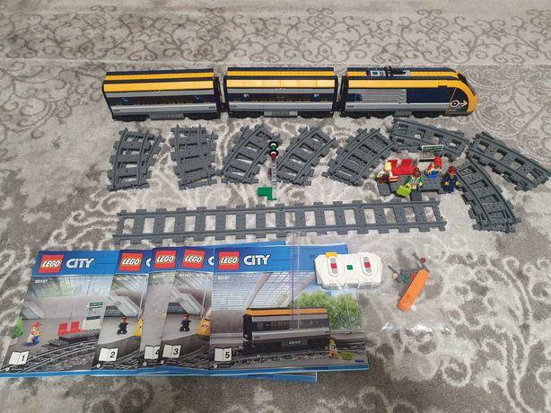 Лего сити Пассажирский поезд Lego City 60197
