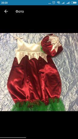 Карнавальный костюм редиски( ягодки, свеклы), и Снегурочки