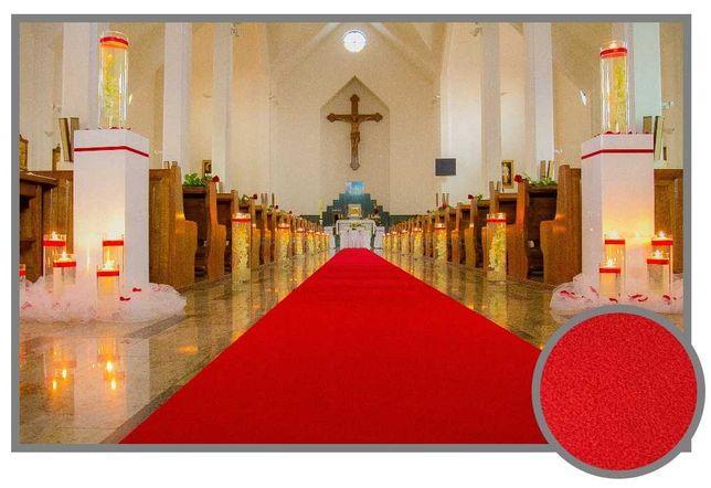 Dywan Chodnik na ślub klasa PREMIUM czerwony