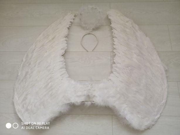 новорічний костюм крила янгола та німб (великі 75 на 50 см)