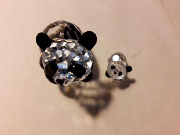 Figuras de Cristal Swarowski - Panda mãe e cria