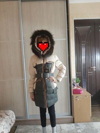 Пуховик на девочку, рост 152см