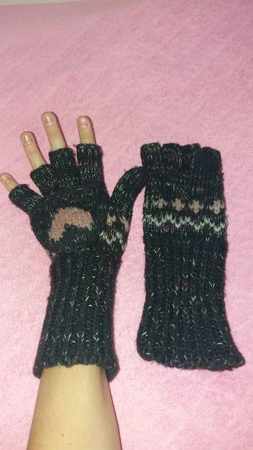 Перчатки-рукавицы. Зимние рукавички. Большой шарф.