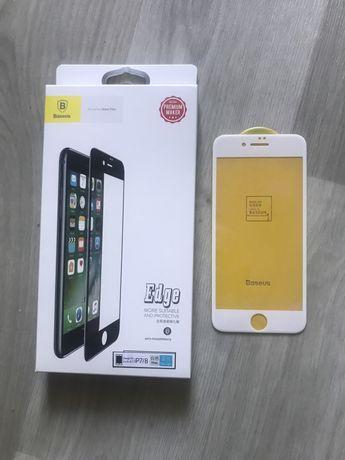 Защитное стекло Baseus 3D Edge Blue Light iPhone 7/ 8 белое