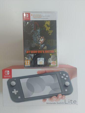 Vendo consola Nintendo Switch Lite + jogo My Hero One's Justice