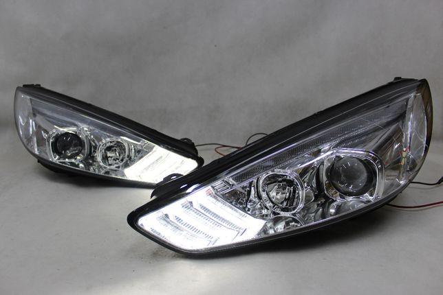 Lampy przednie przód FORD FOCUS MK 3 III 15-18 LED BAR NEON Dynamiczne
