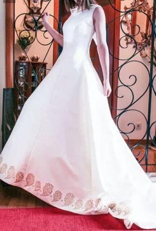 Vestido de noiva pintado á mão