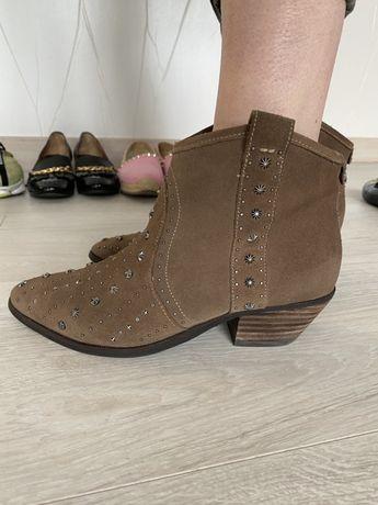 Казаки Sam Edelman замшевые сапоги ботинки
