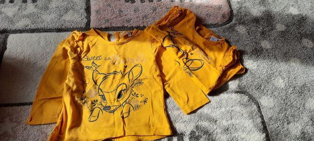 Bluzki  z długim rękawem dla bliźniaczek roz 86