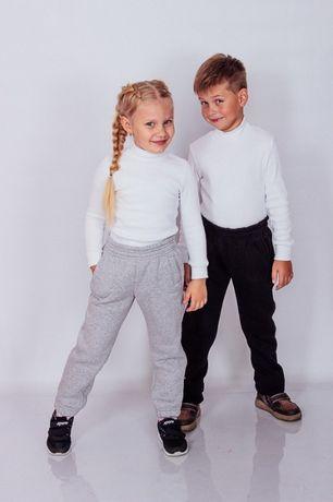 Теплые брюки трехнитка р.104-164