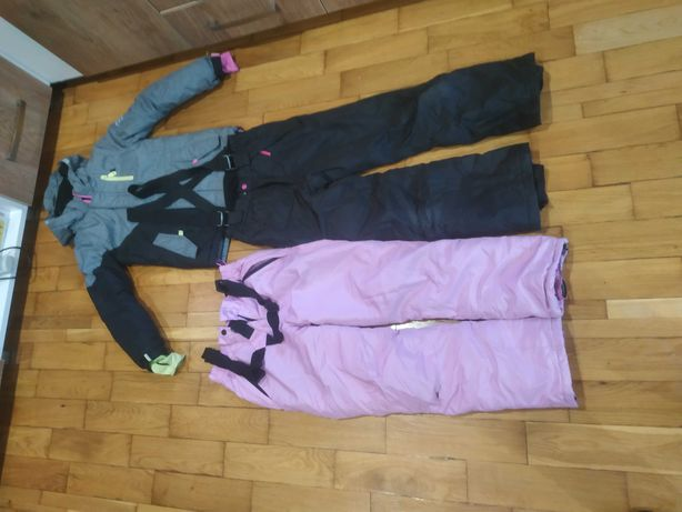 Komplet narciarski kurtka, spodnie 140