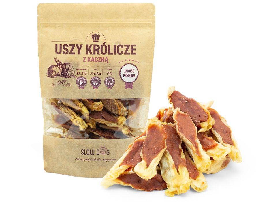 SLOW DOG - przysmak dla psa - Uszy Królicze z Kaczką - 89,5% mięsa Kraków - image 1