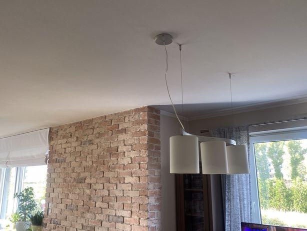 Lampa nowoczesna sufitowa wiszaca bialy klosz super