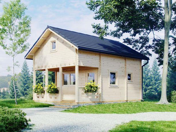 Dom Domek balik 45mm drewniany letniskowy IBIZA 55m2 Ekspozycja W-WA