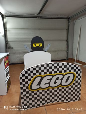 Łóżko  dla dziecka LEGO 160 z szufladą