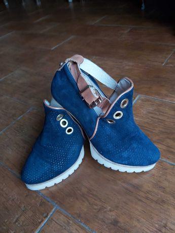 Sapato sandália em pele, n° 35