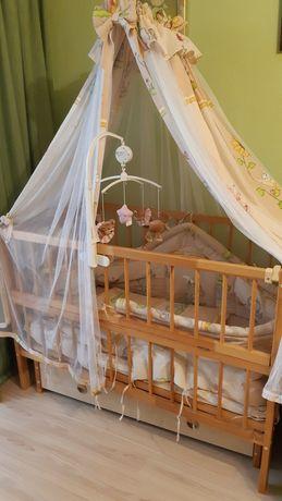 Детская кровать/ кроватка маятник с ящиком