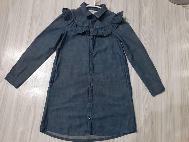 Sukienka koszulowa h&m falbanka 116/122