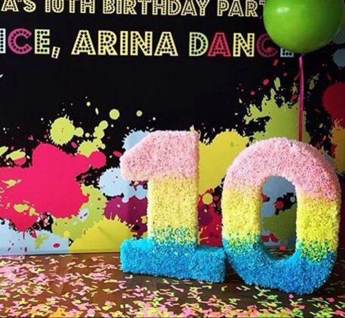 Объемная цифра на день рождения