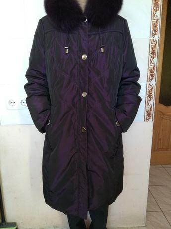 Женский зимний пуховик / теплая длинная куртка / пальто 48-50 размер