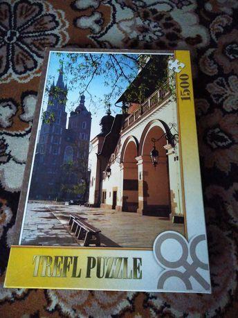 Puzzle 1500 elementów Kraków Sukiennice Trefl