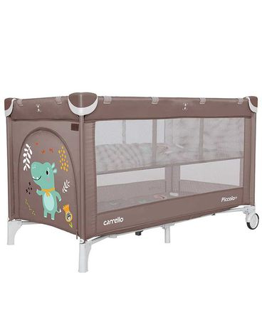 Замечательный детский манеж-кровать CARRELLO Piccolo,двойное дно