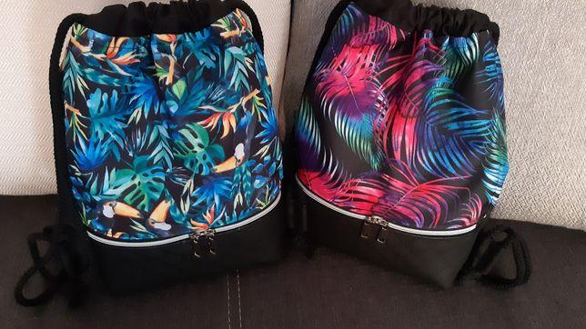 Worko plecaki z tkaniny wodoodpornej do szkoły, wycieczki i spacery.