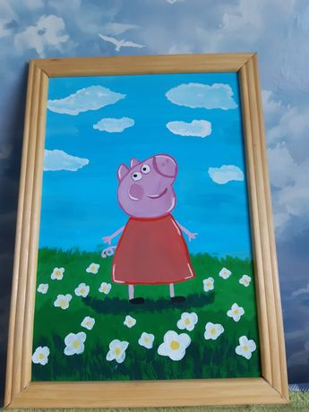 Картина в детскую,игровую Свинка Пеппа.