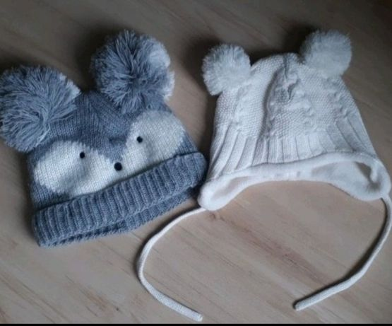 Czapeczki zimowe komplet  H&M F&F