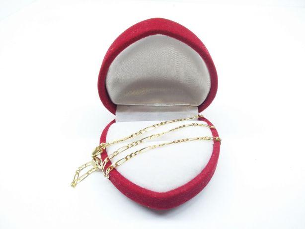 Złoty łańcuszek o splocie figaro p.585 2,62g