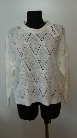 Sweterek damski biały, nowy, rozmiar uniwersalny, okazja, najtaniej