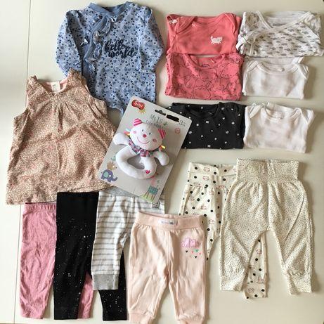 Wyprawka ubranka body spodnie Next h&m hm smyk Cool club 56 62