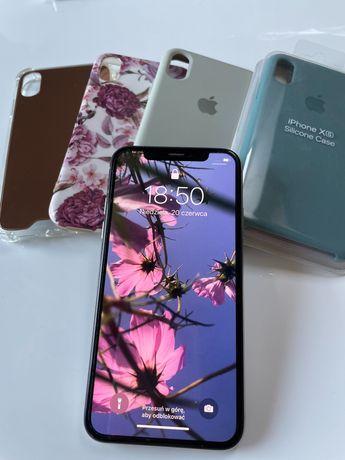 IPhone X 64 silver stan idealny plus 4 etui