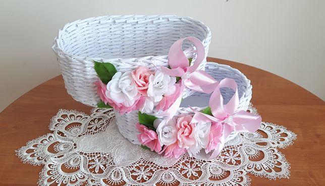 Piękne koszyczki oczepinowe-kwiatowe -różne/kolory/ślub/wesele/oczepin