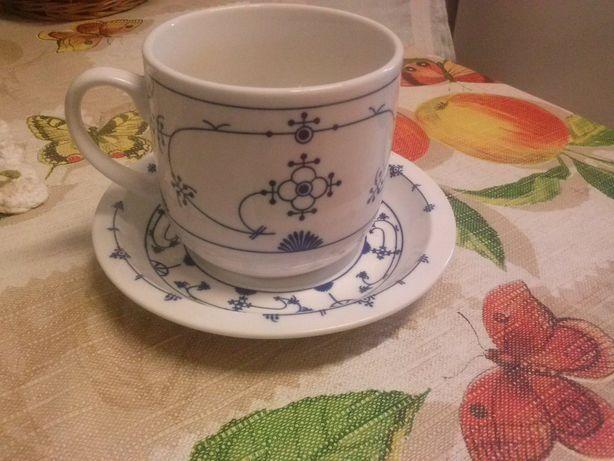 Kubek,talerzyk wzór cebulowy porcelana